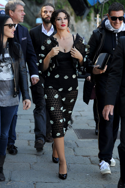 Monica Bellucci On The Set of Dolce Gabbana Spot