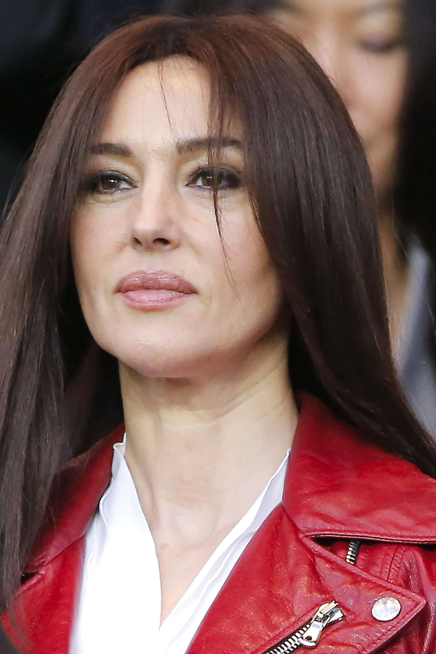 Monica Bellucci Paris Saint-Germain vs FC Barcelona in Paris