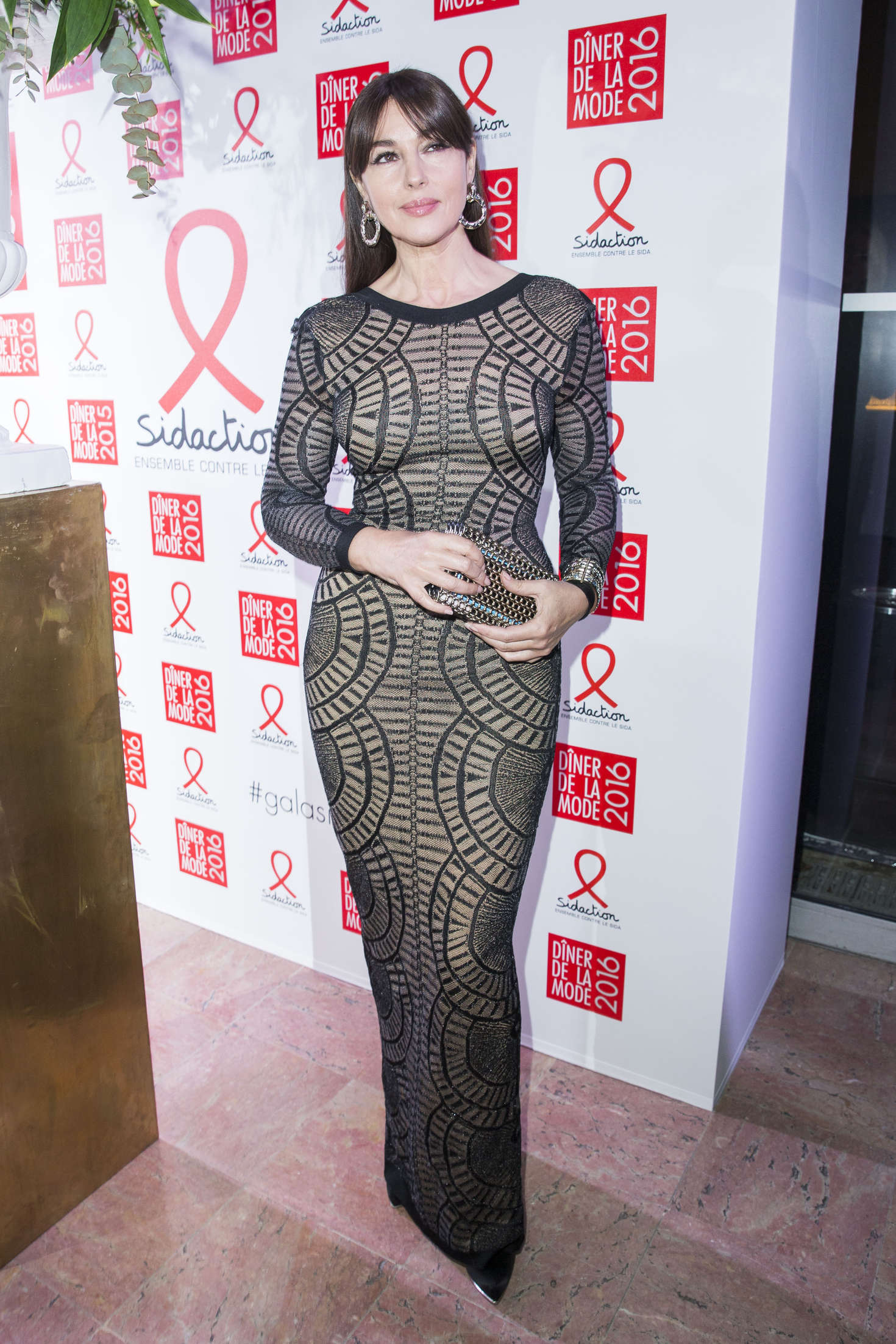 Monica Bellucci Sidaction Gala Dinner held at Pavillon dArmenonville in Paris