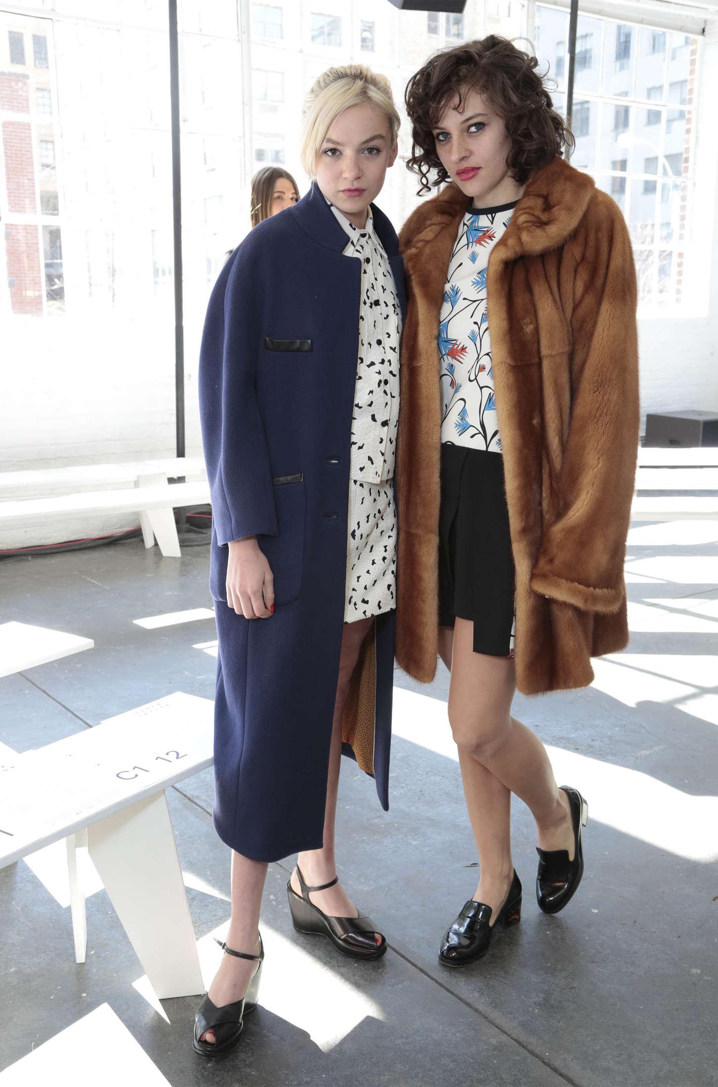 Morgan Saylor Tanya Taylor Fashion Show in New York