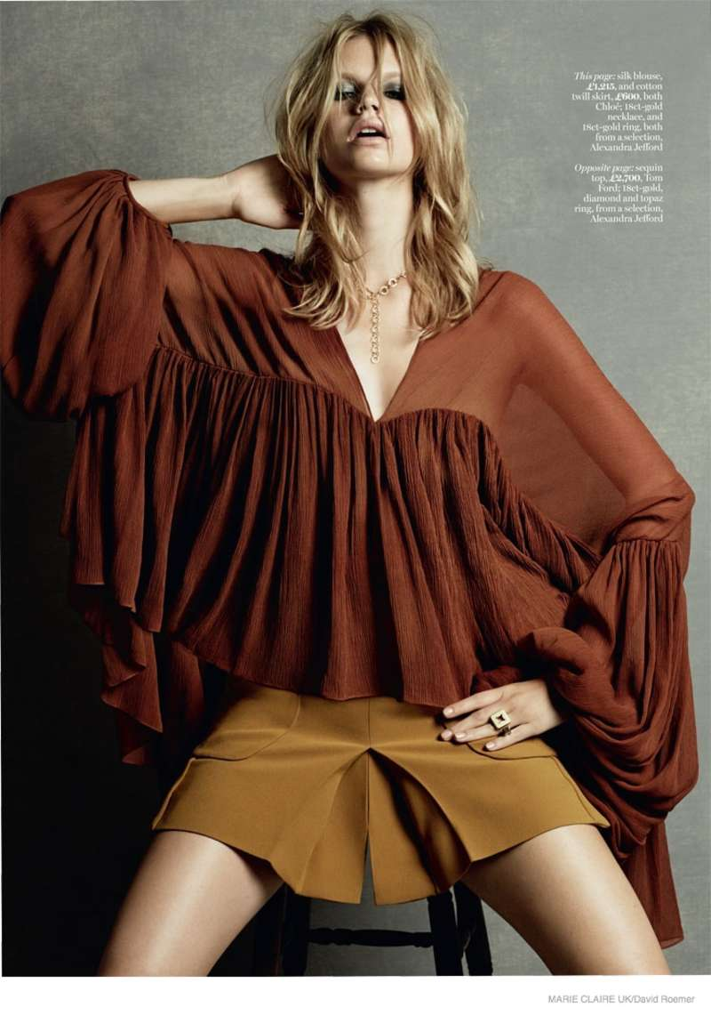 Nadine Leopold Marie Claire UK Magazine