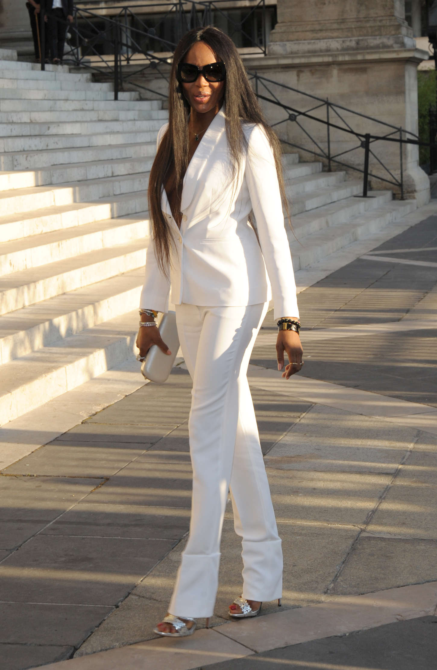 Naomi Campbell Versace Fashion Show in Paris