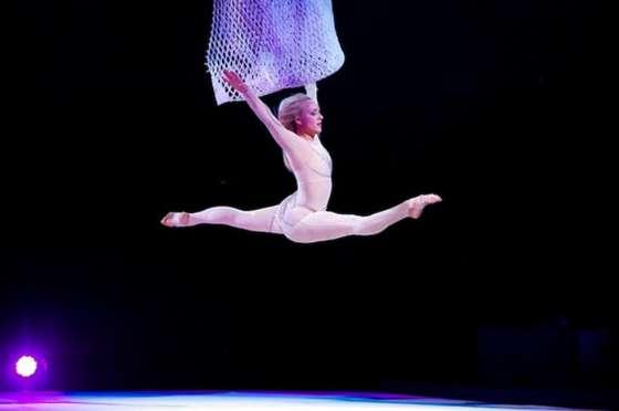 Nastia Liukin Performing at Kelloggs Tour of Gymnastics Champions in San Jose