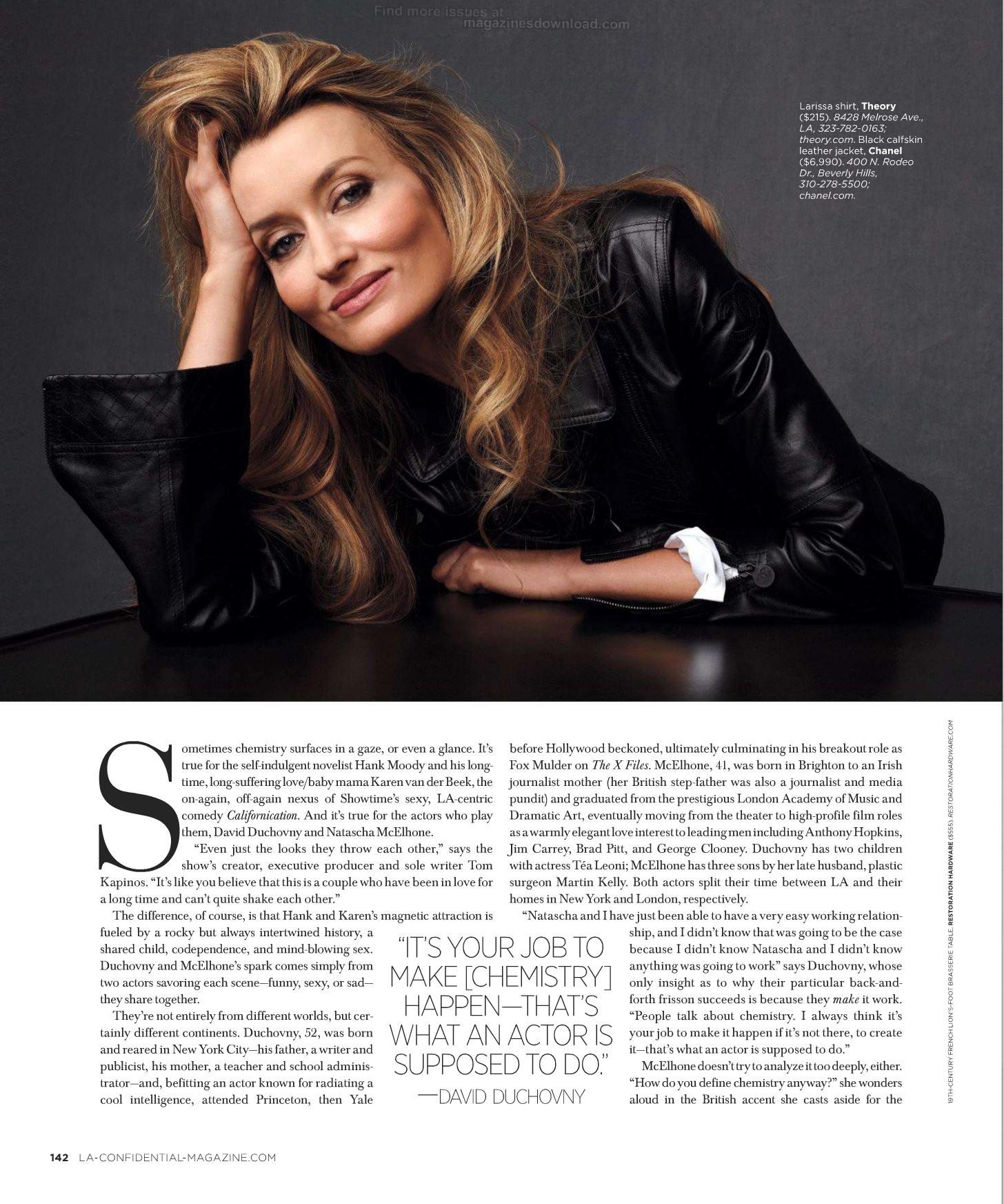 Natascha McElhone Los Angeles Confidential Magazine