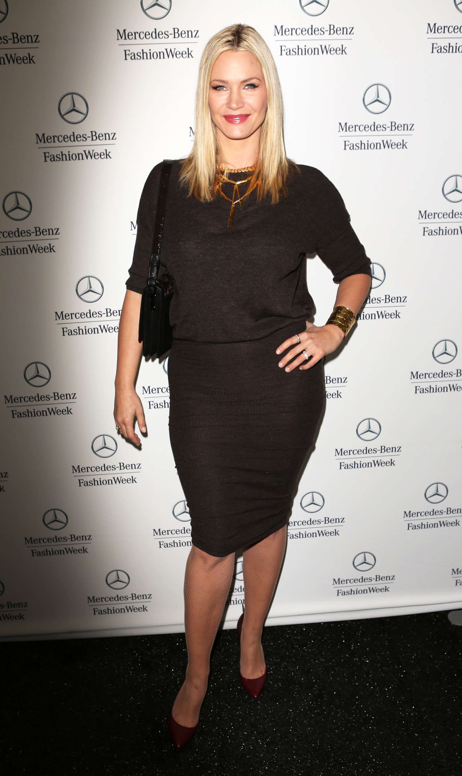 Natasha Henstridge Monika Chiang fashion show in New York