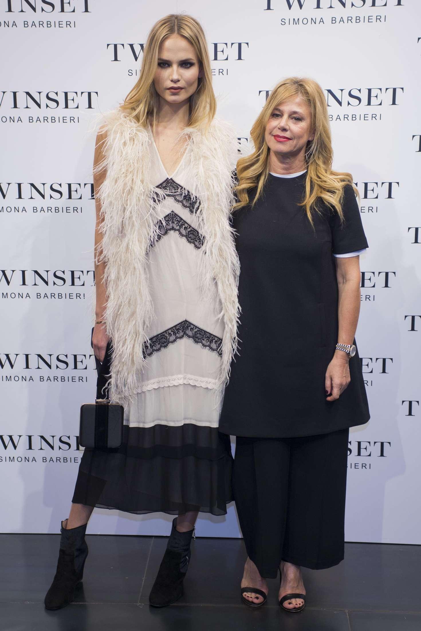Natasha Poly Twin Set Fashion Event in Madrid