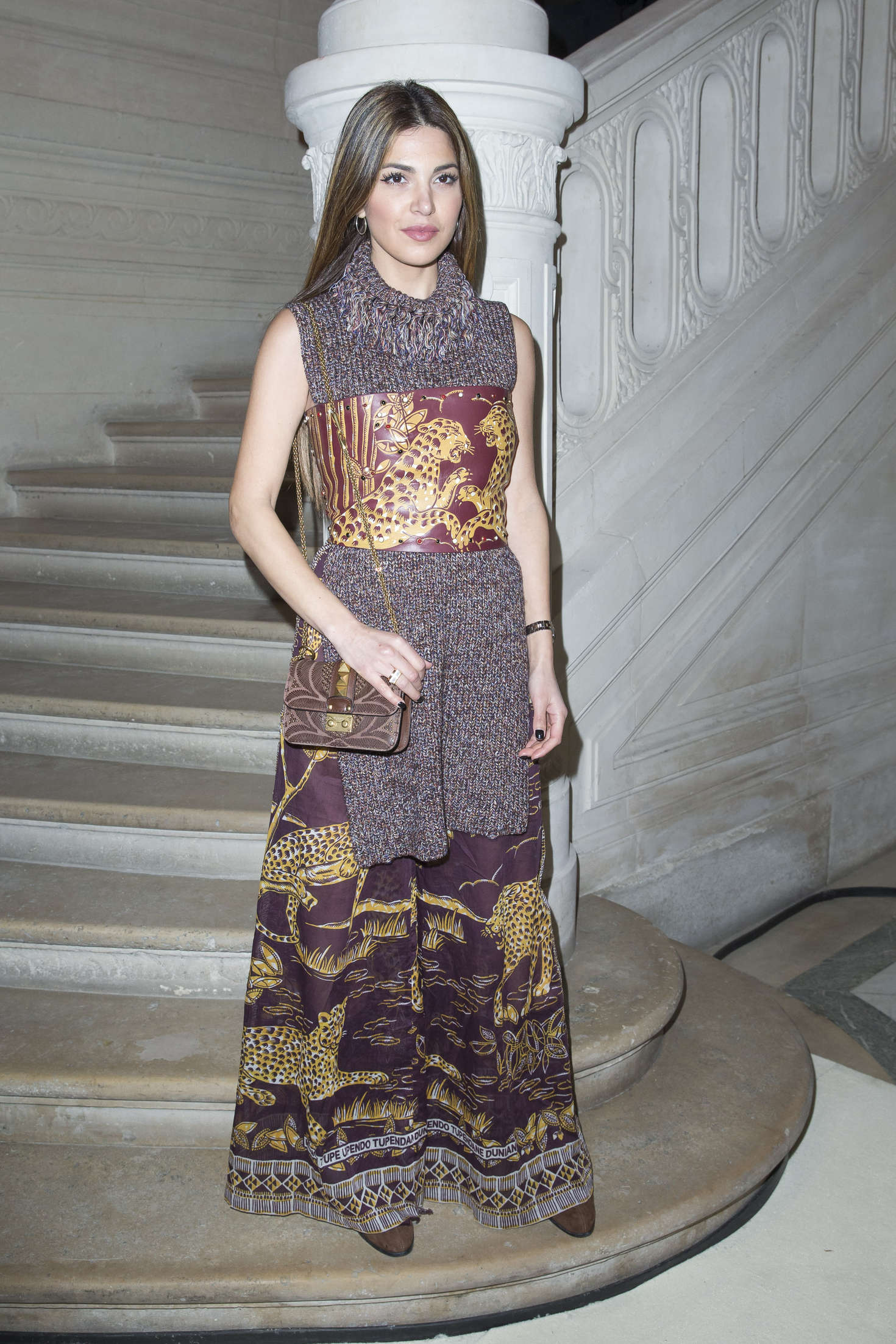 Negin Mirsalehi Haute Couture Fashion Show Valentino Spring-Summer in Paris