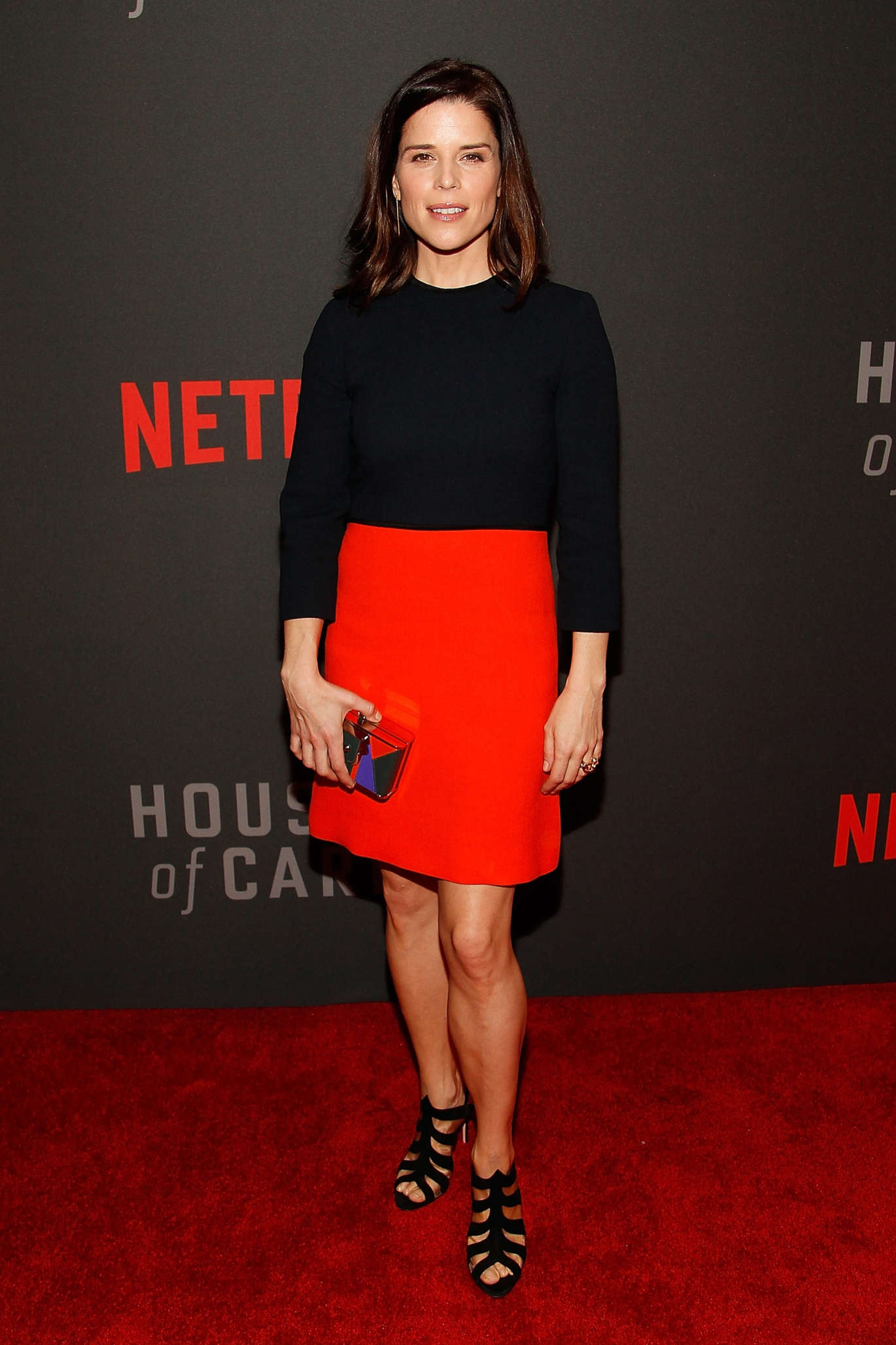 Neve Campbell House Of Cards Season Premiere in Washington