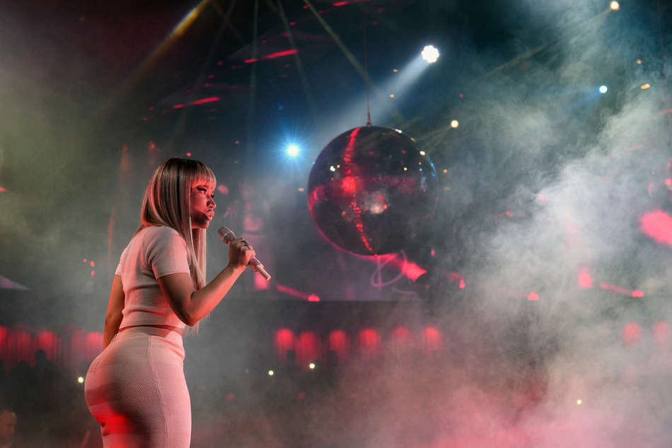 Nicki Minaj Celebrating the New Year at Drais Nightclub in Las Vegas