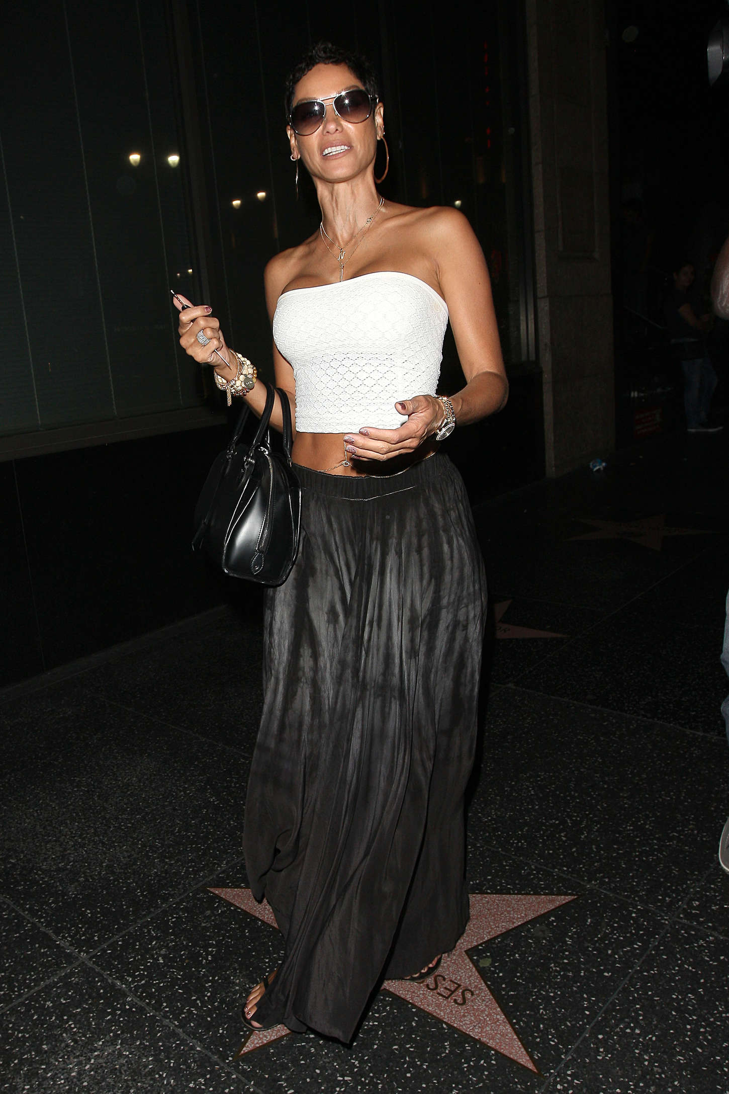 Nicole Murphy Leaves Katsuya Restaurant in Hollywood