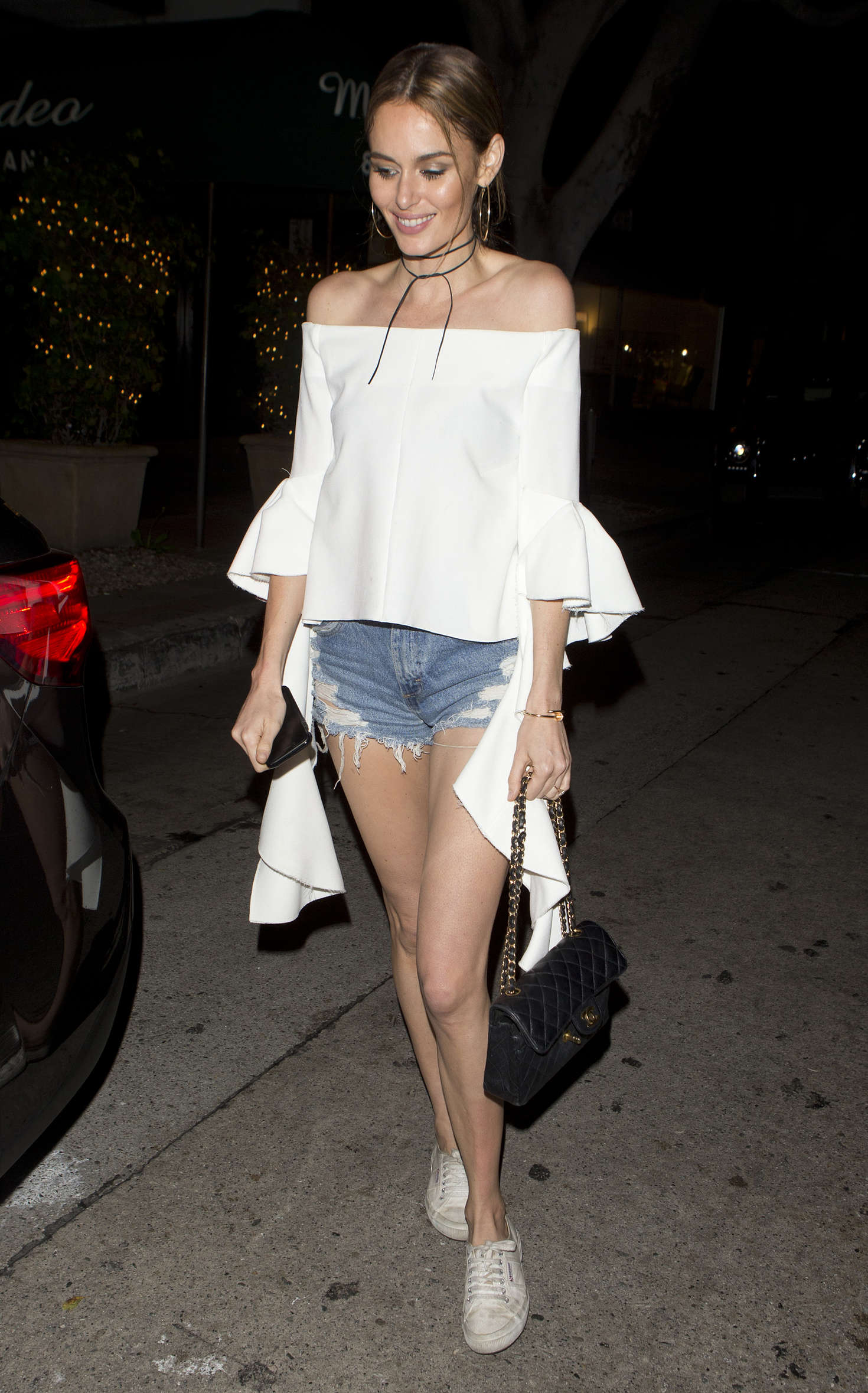 Nicole Trunfio Leaving Madeo Restaurant in Beverly Hills