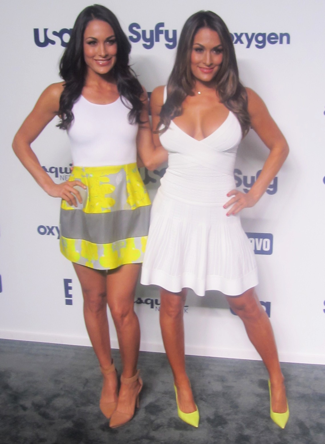 Nikki and Brie Bella Total Divas Returns for fifth season on E! in New York