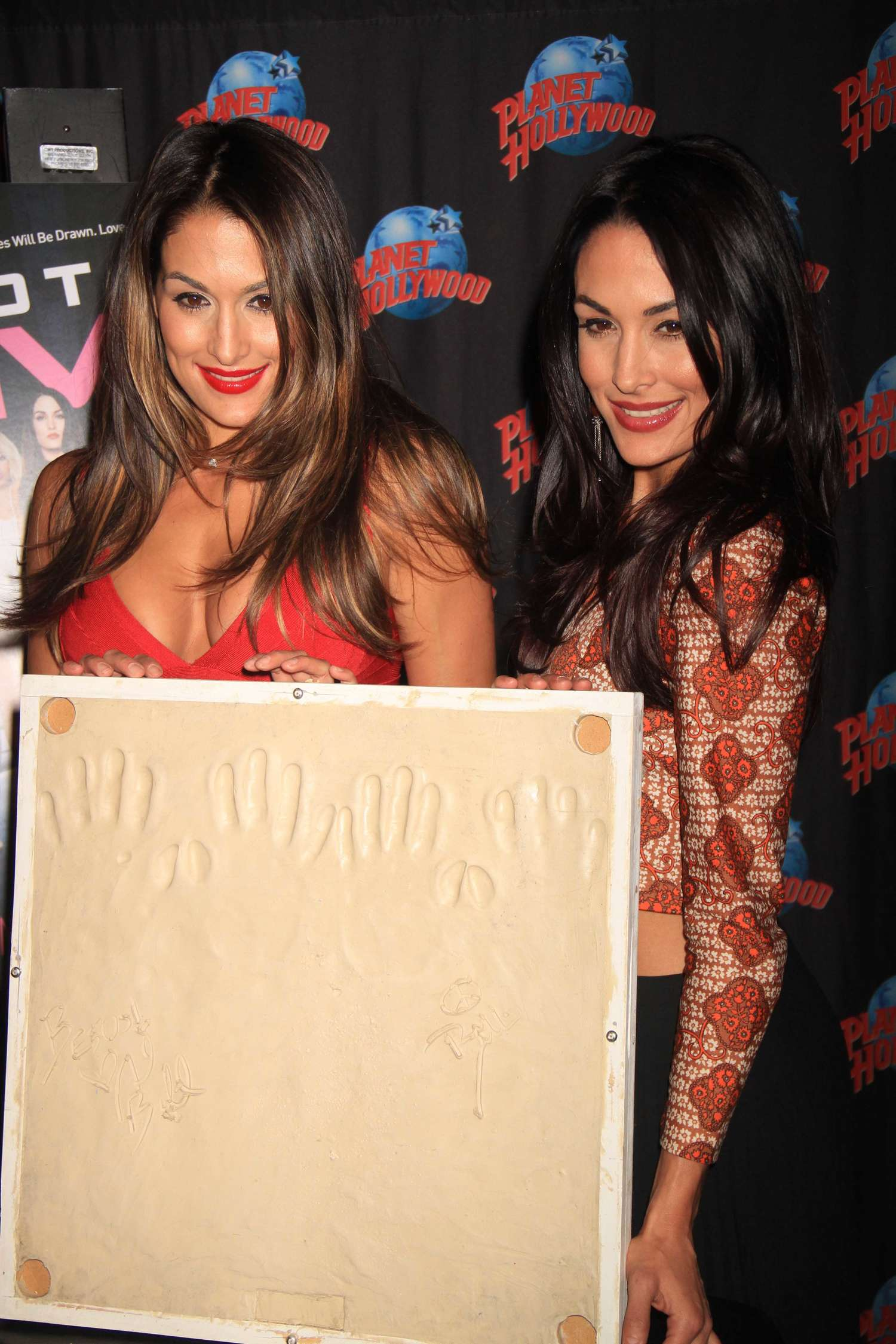 Nikki Brie Bella Planet Hollywood Hall of Fame in New York