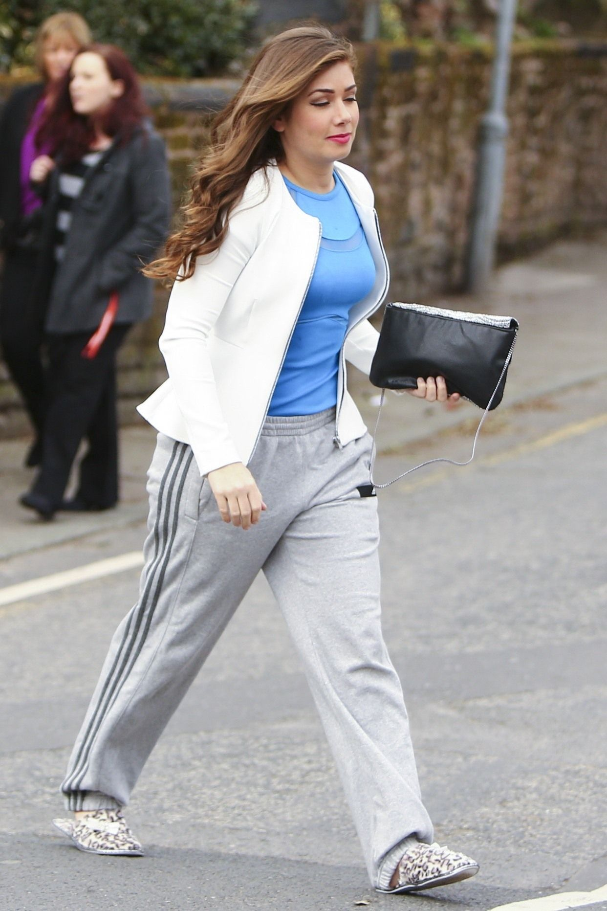 Nikki Sanderson Filming Hollyoaks in Liverpool