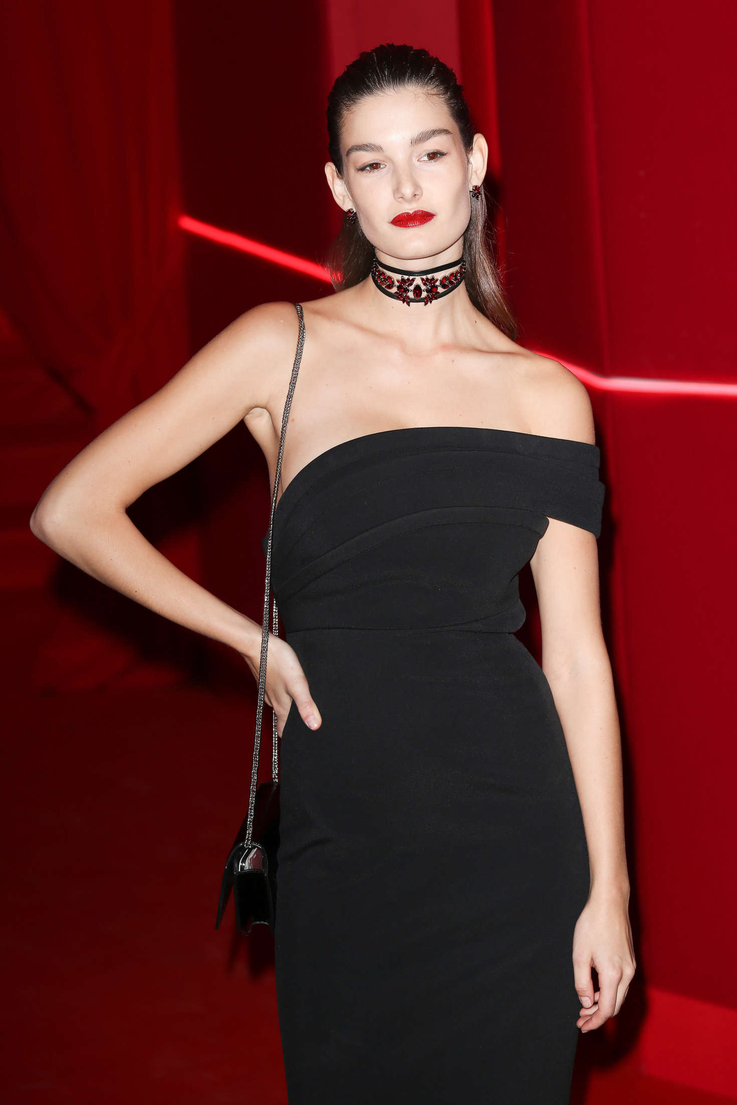 Ophelie Guillermand Attends at LOreal Red Obsession Party in Paris