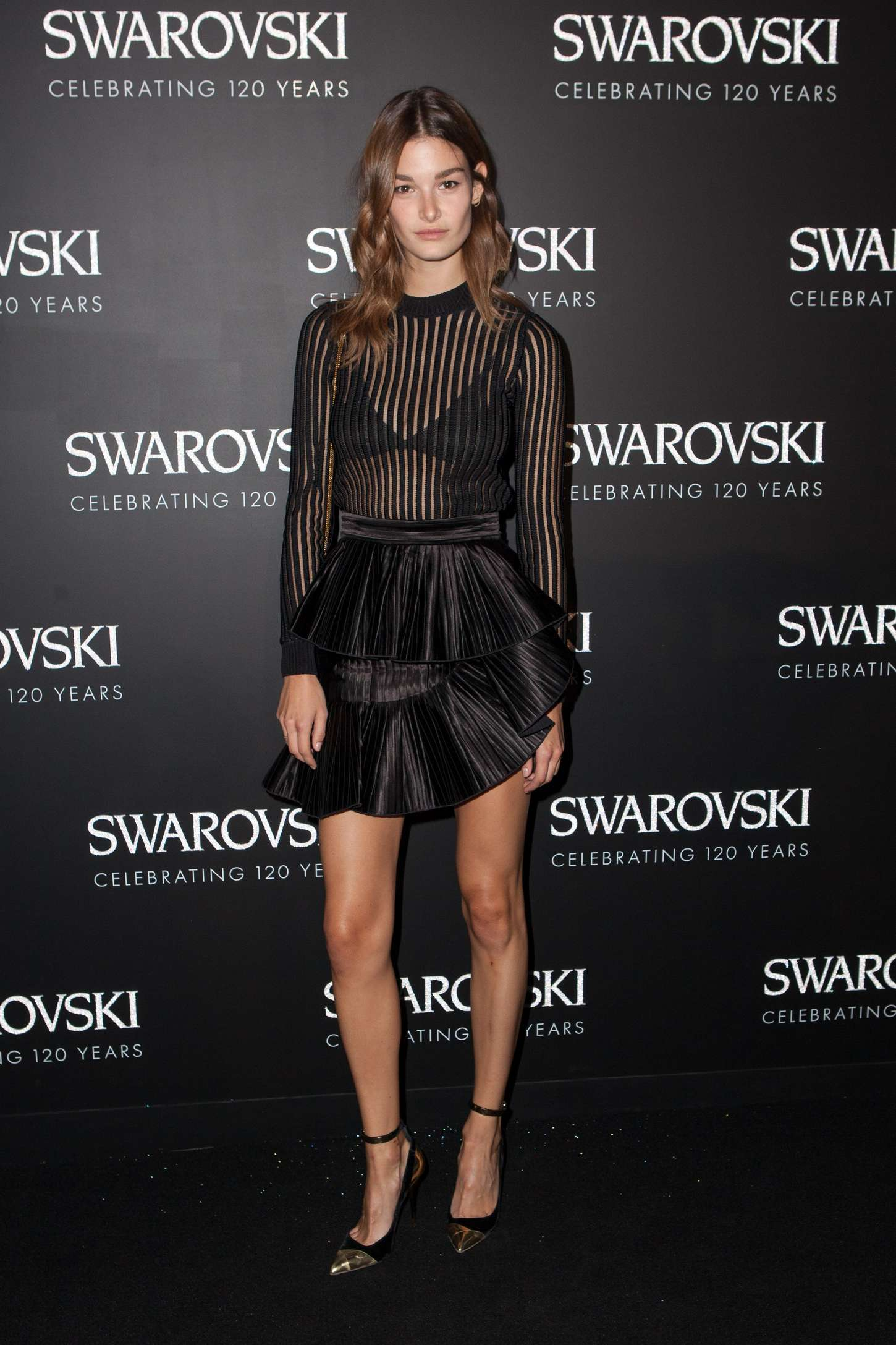 Ophelie Guillermand Swarovski X Rizzoli Exhibition Cocktail at PFW SS in Paris