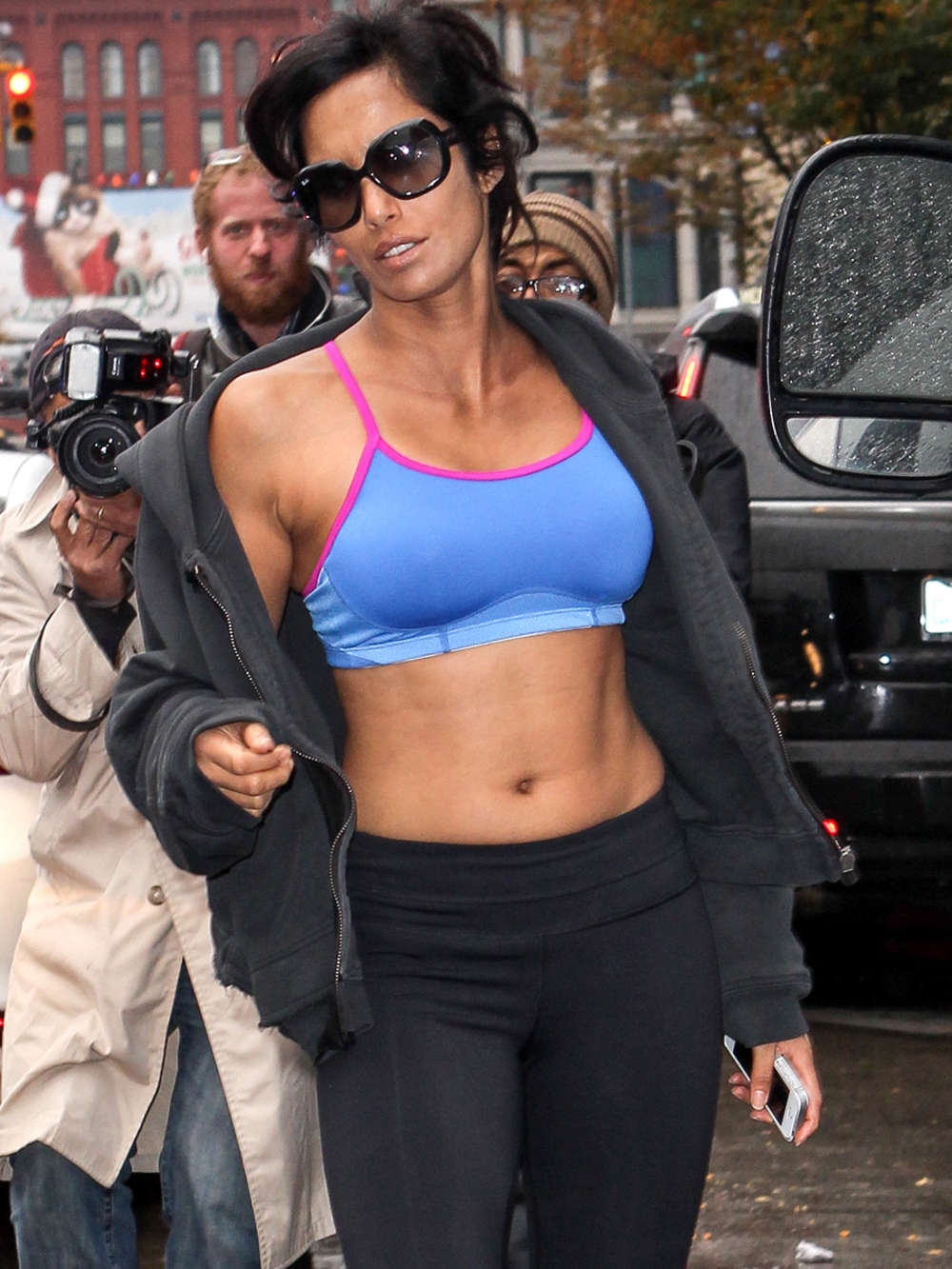 Padma Lakshmi Heading to the Gym in New York