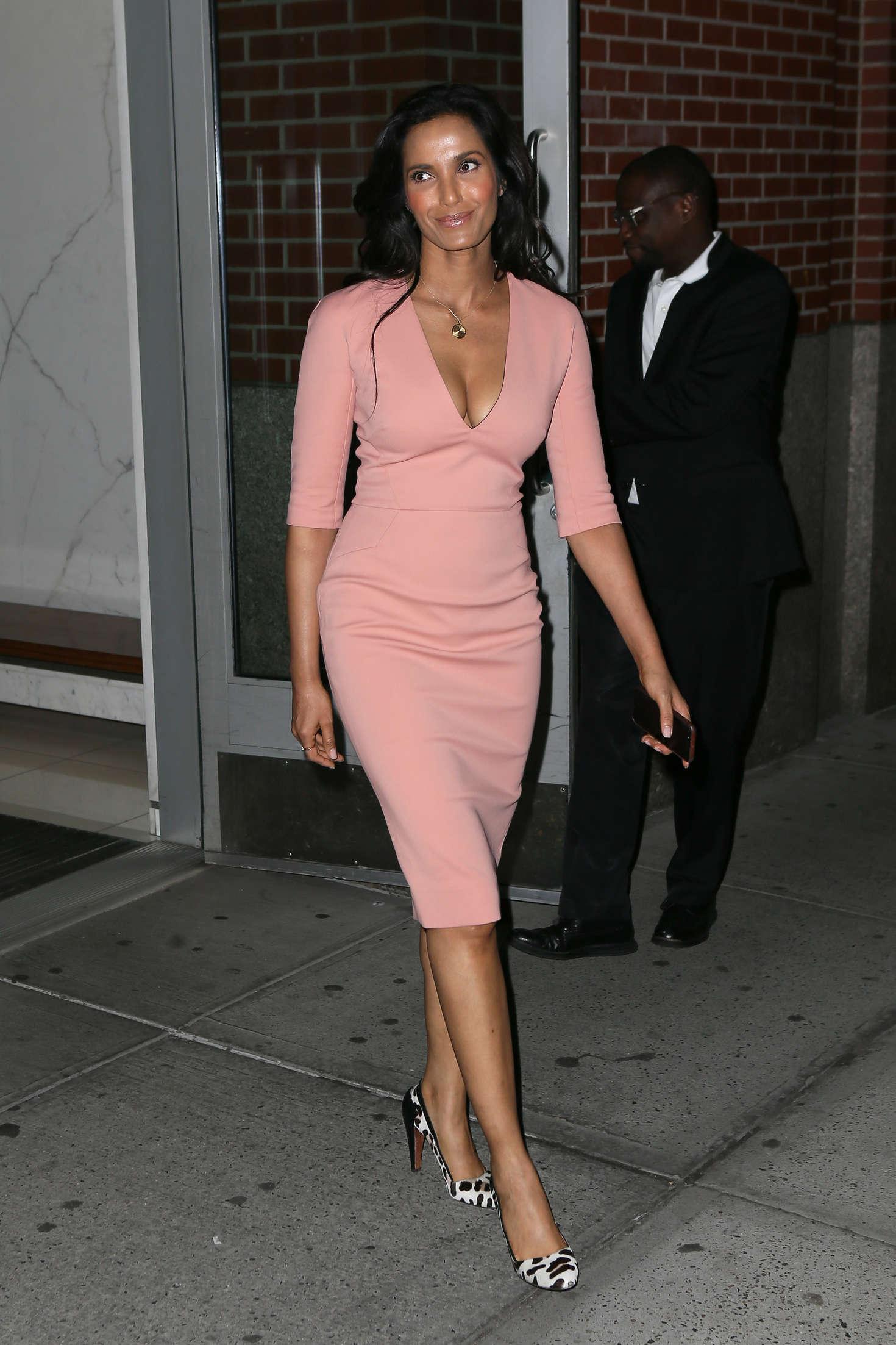 Padma Lakshmi Leaving her apartment in New York