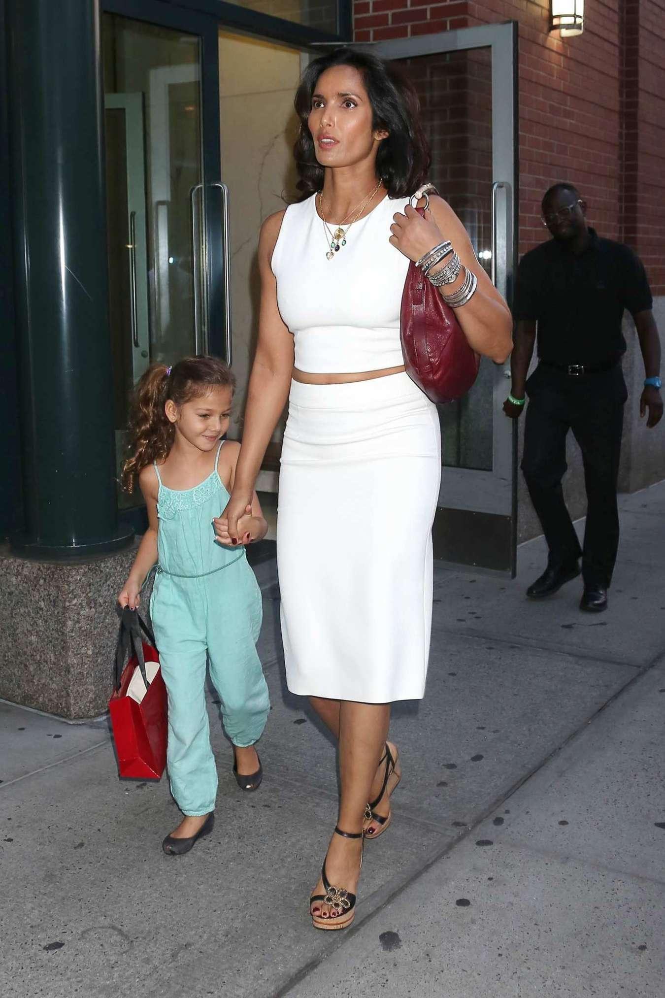 Padma Lakshmi With Daughter Krishna out in New York