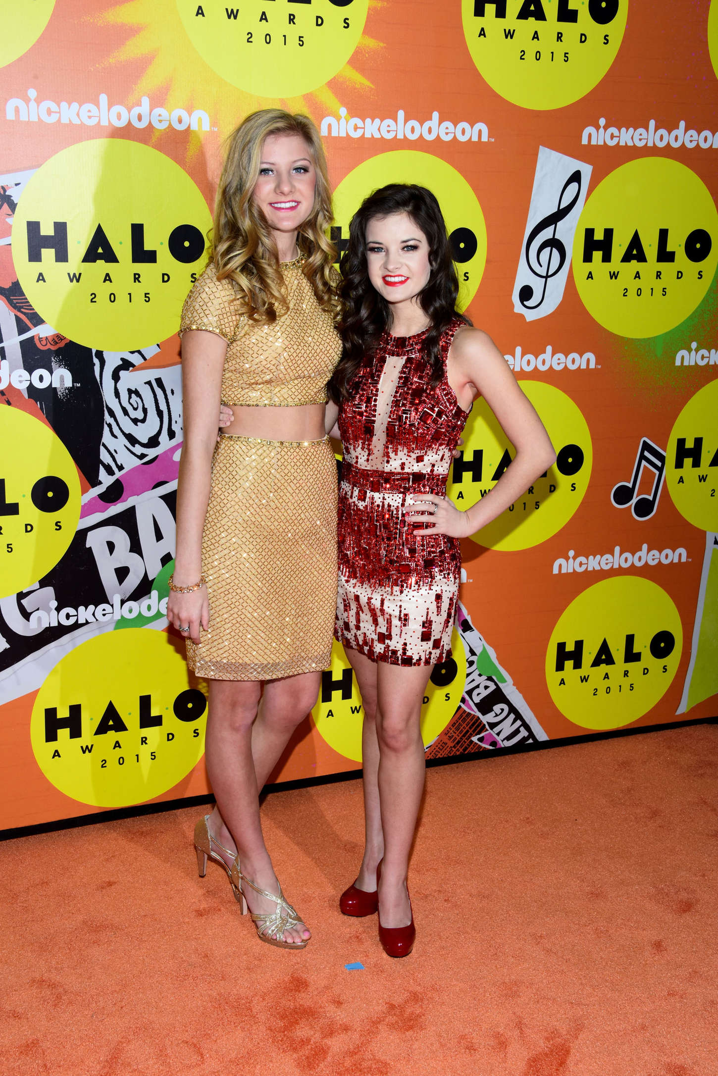 Paige and Brooke Hyland Nickelodeon HALO Awards in New York