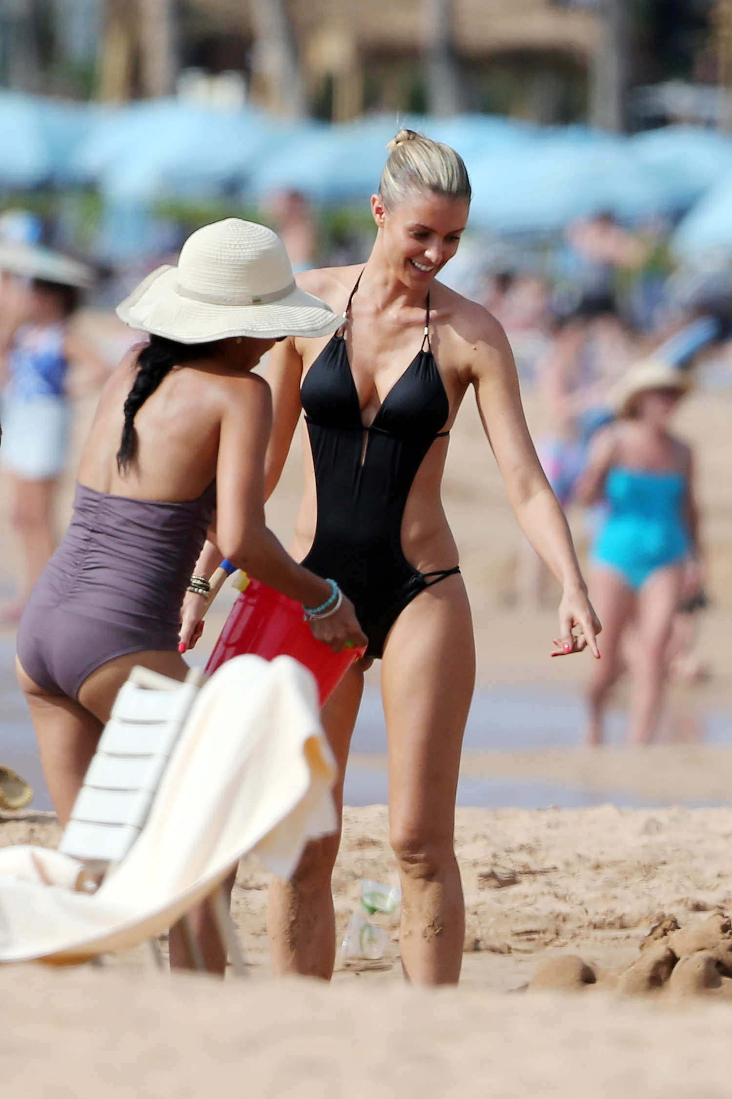 Paige Butcher Swimsuit Candids on Maui Beach