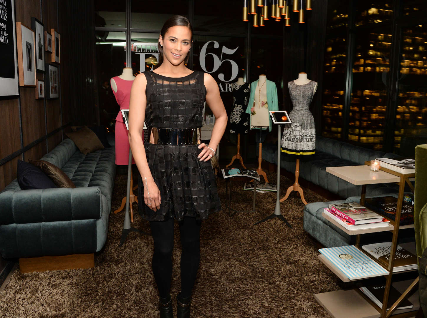 Paula Patton Celebrating Ellen Tracys Anniversary Spring Collection in New York