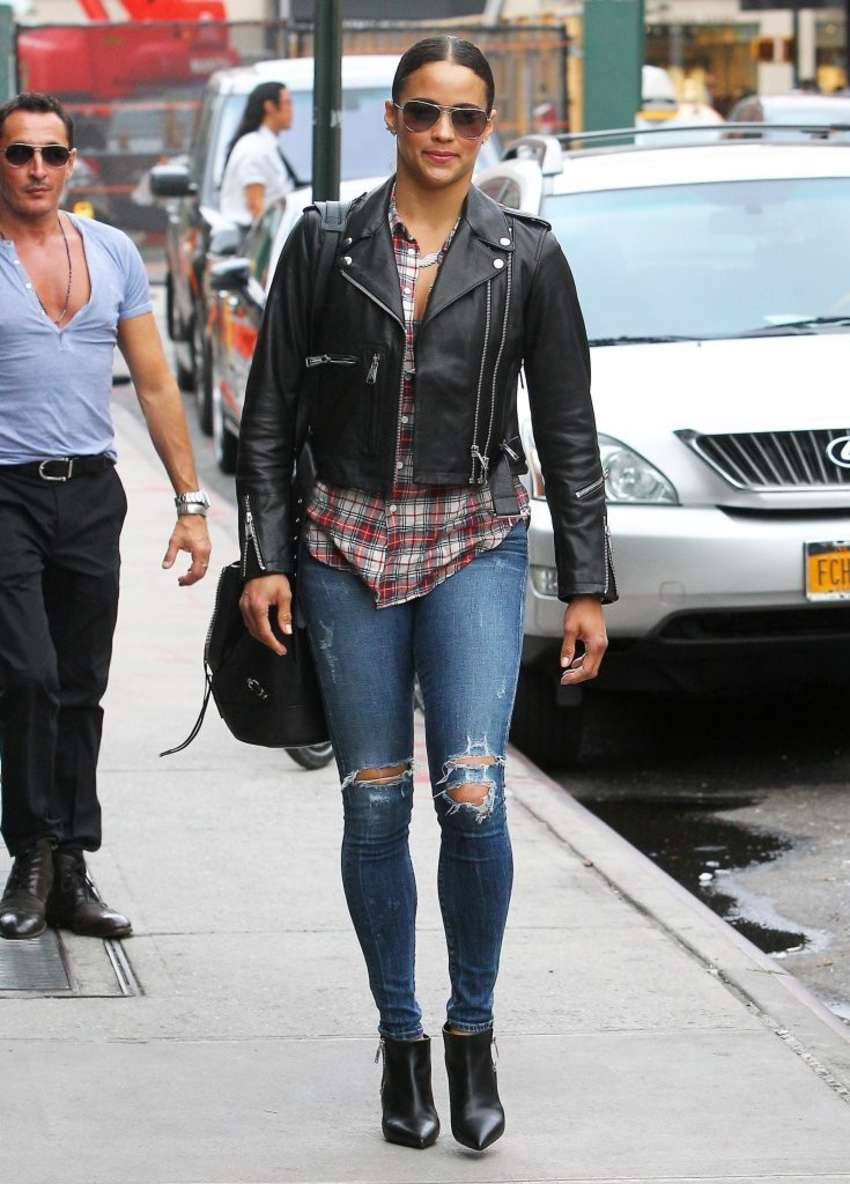 Paula Patton Street Style Out About In New York