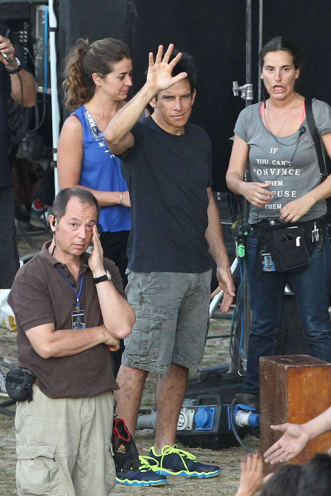 Penelope Cruz and Ben Stiller Filming Zoolander in Rome