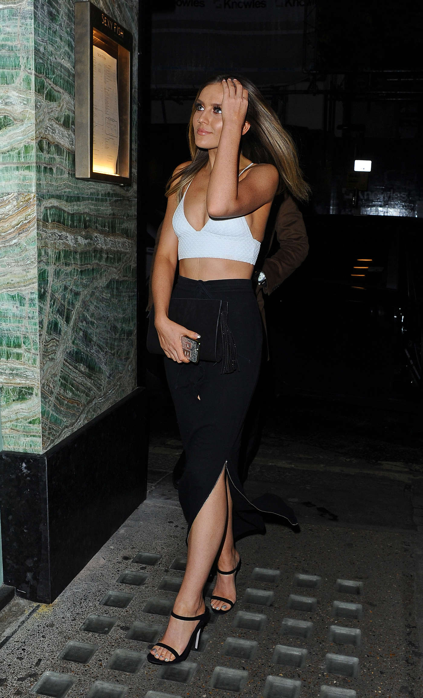 Perrie Edwards Sexy Fish Restaurant in London