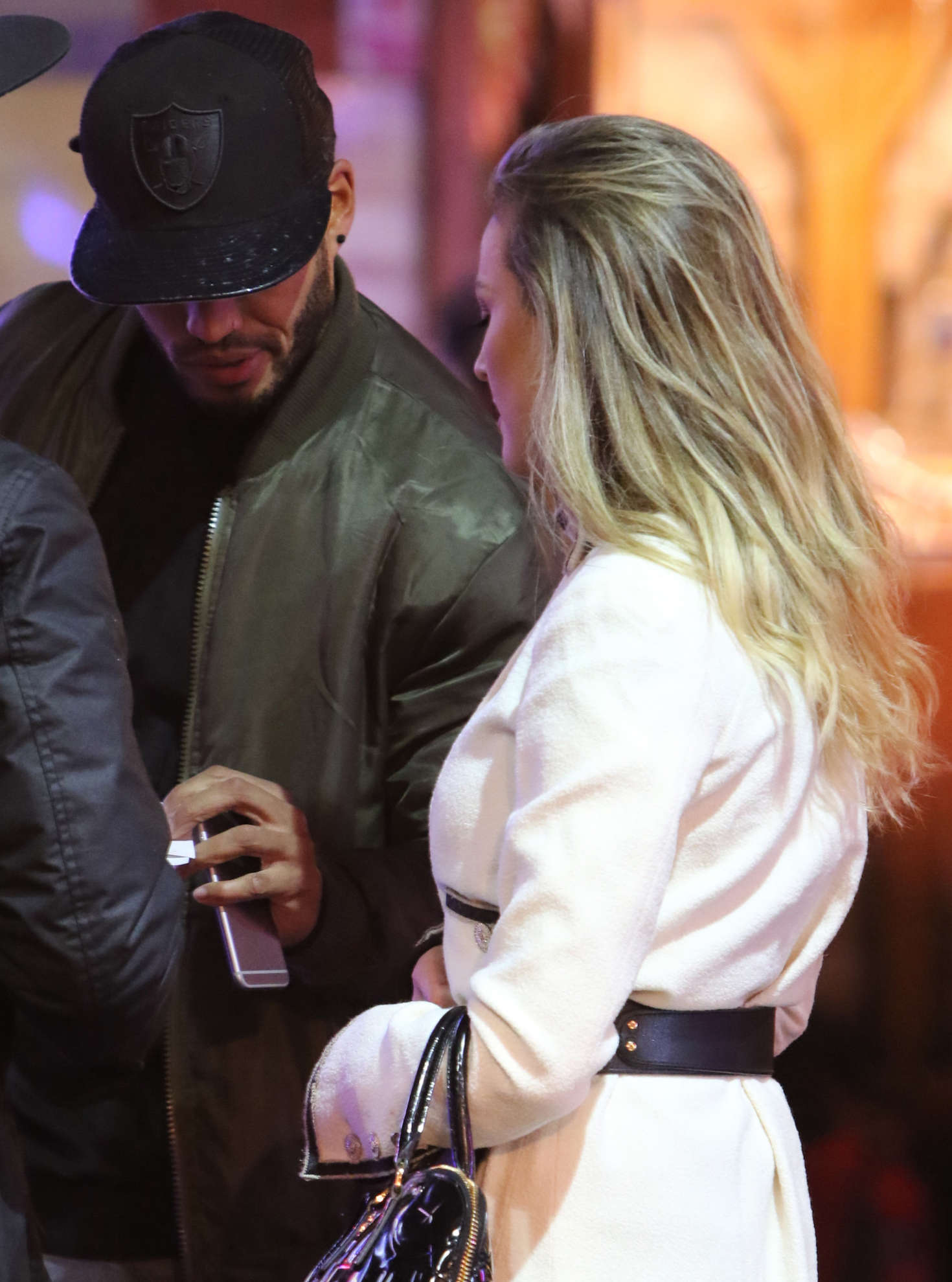 Perrie Edwards with new boyfriend at Londons Winter Wonderland