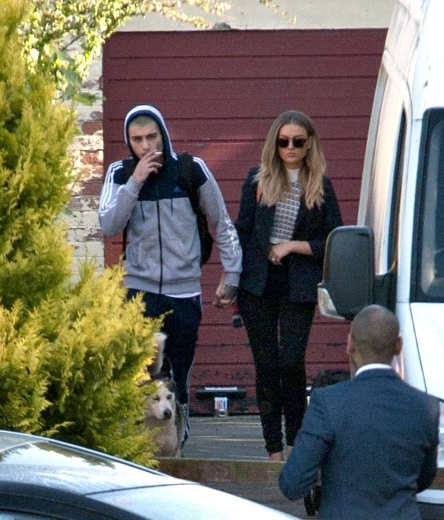 Perrie Edwards with Zayn Malik out in Newcastle