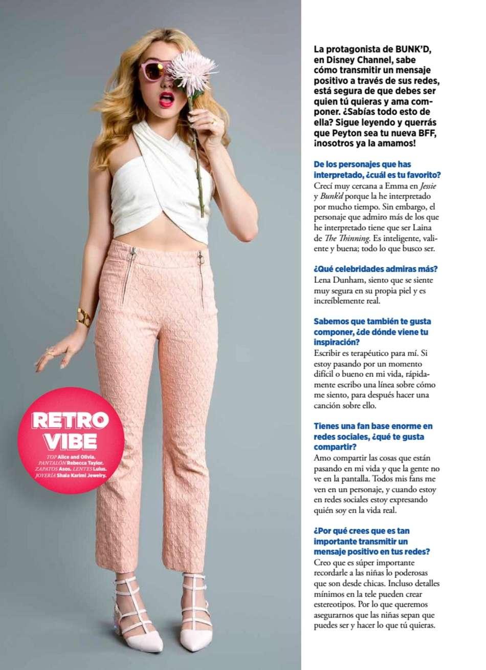 Peyton R List Seventeen Mexico Magazine