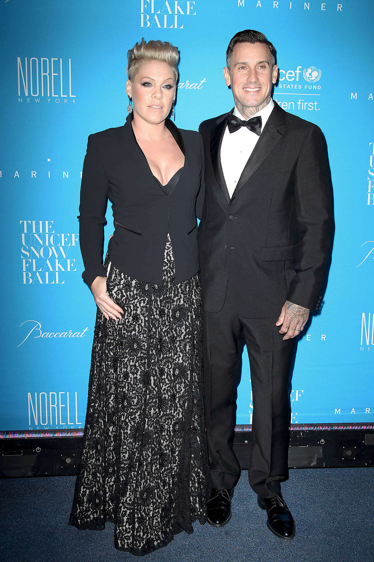 Pink UNICEF Snowflake Ball at Cipriani Wall Street in New York City