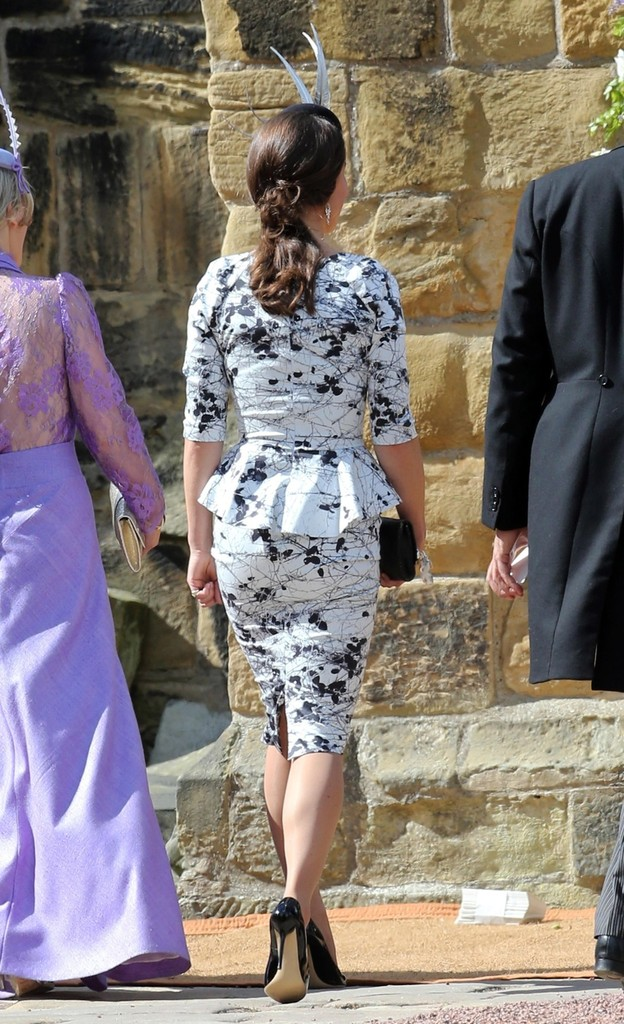 Pippa Middleton at a wedding in Northumberland