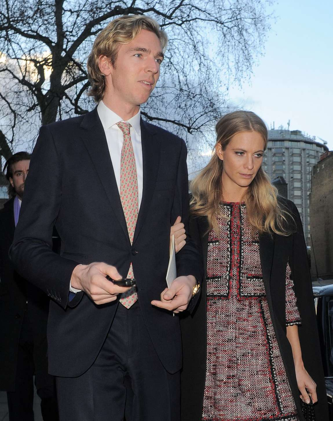 Poppy Delevingne and James Cook Leaving St Pauls Church in London