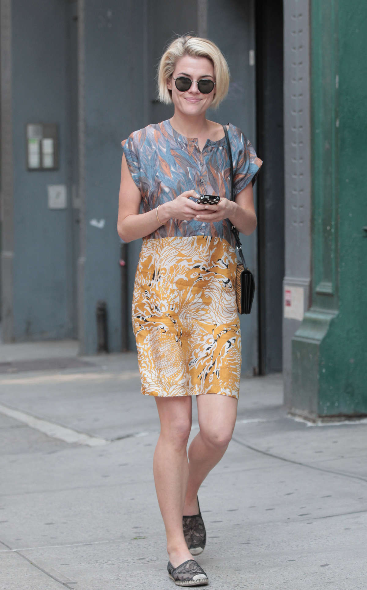 Rachael Taylor is seen walking around Soho New York