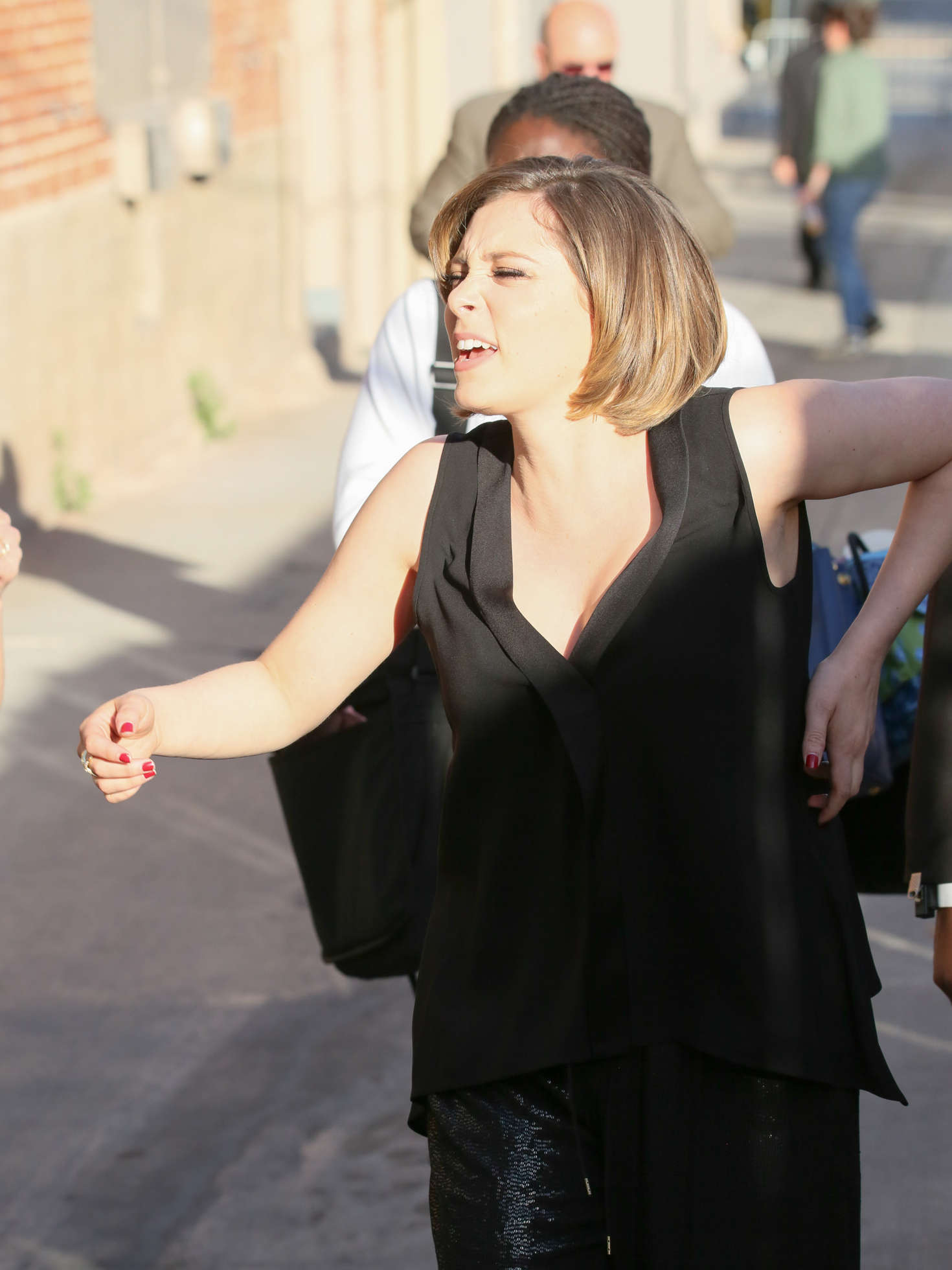 Rachel Bloom Arriving at Jimmy Kimmel Live in Los Angeles