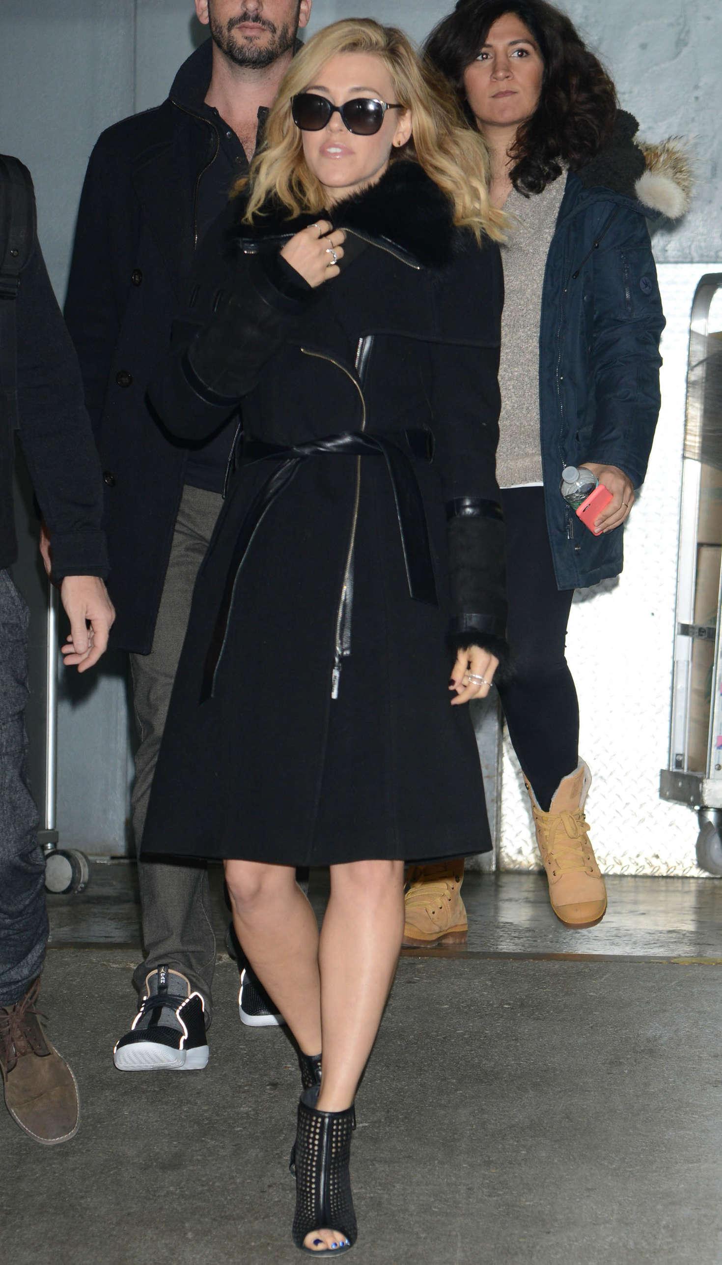 Rachel Platten Leaving a Building in Manhattan