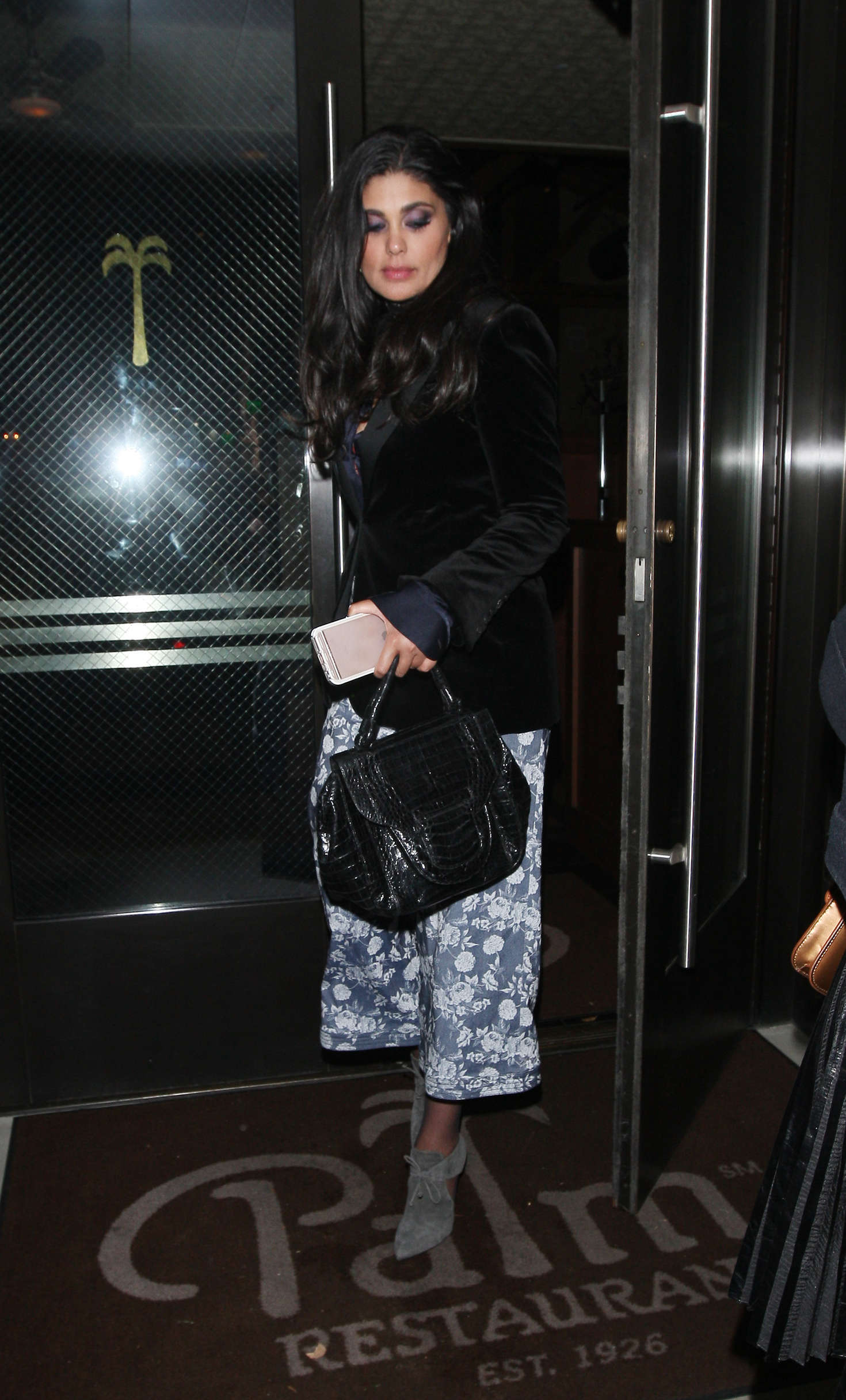 Rachel Roy Leaves Palms Restaurant in Beverly Hills