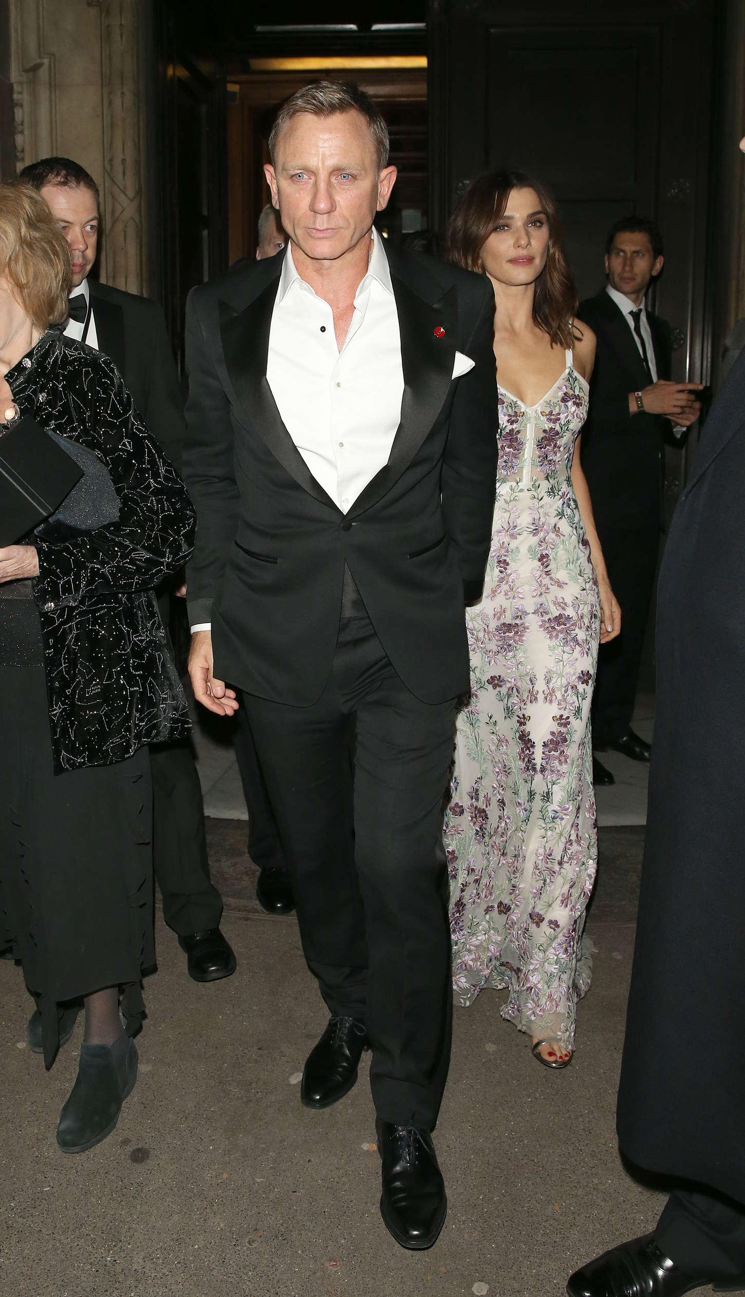 Rachel Weisz Leaving Spectre After Party in London