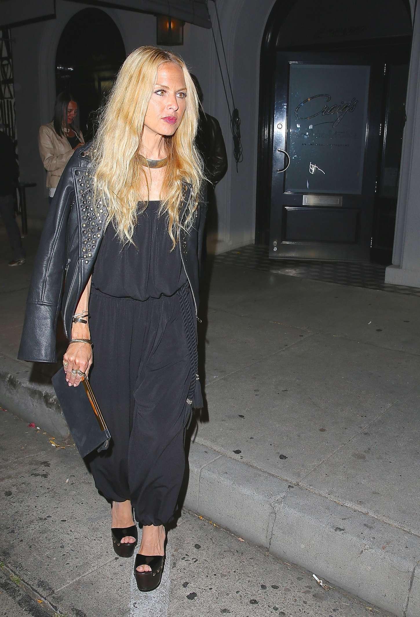 Rachel Zoe Leaving Craigs Restaurant in West Hollywood