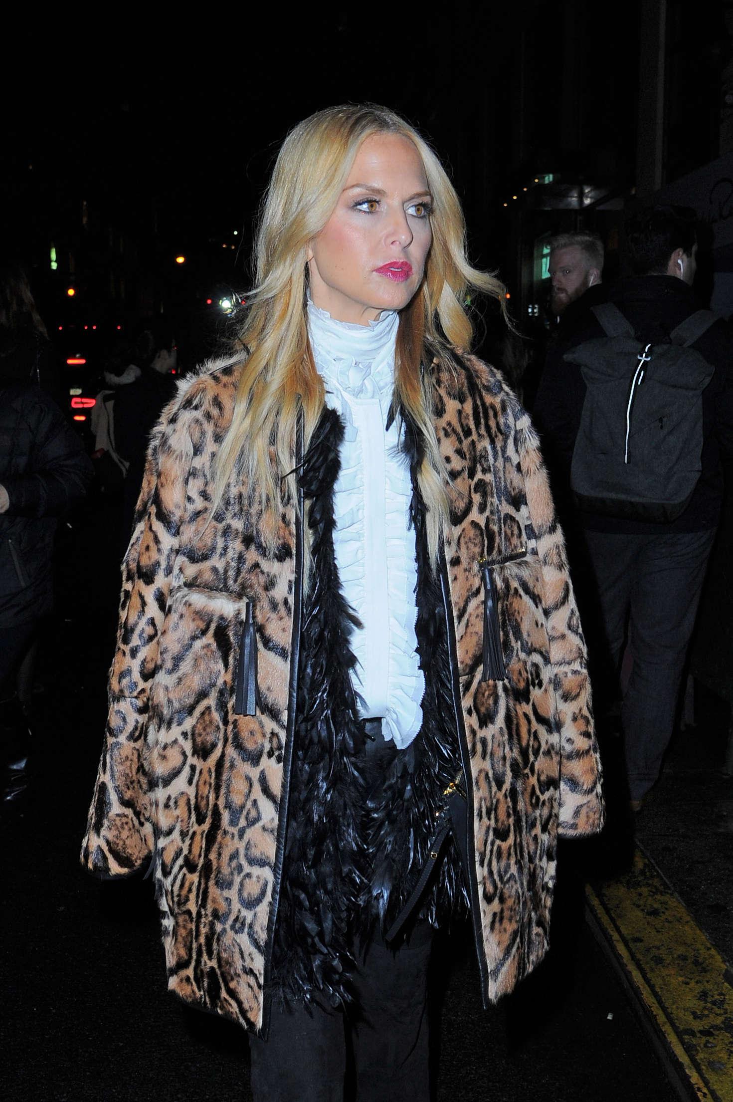 Rachel Zoe Leaving Oscar de la Renta Fashion Show in New York