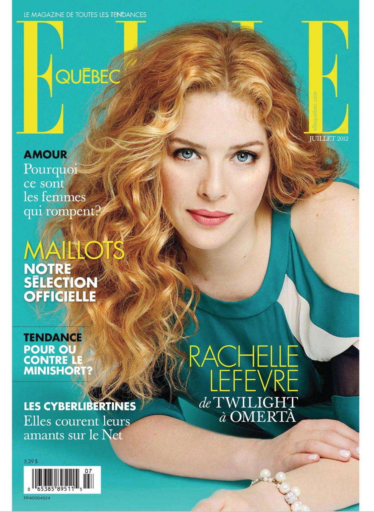Rachelle Lefevre ELLE Magazine Canada