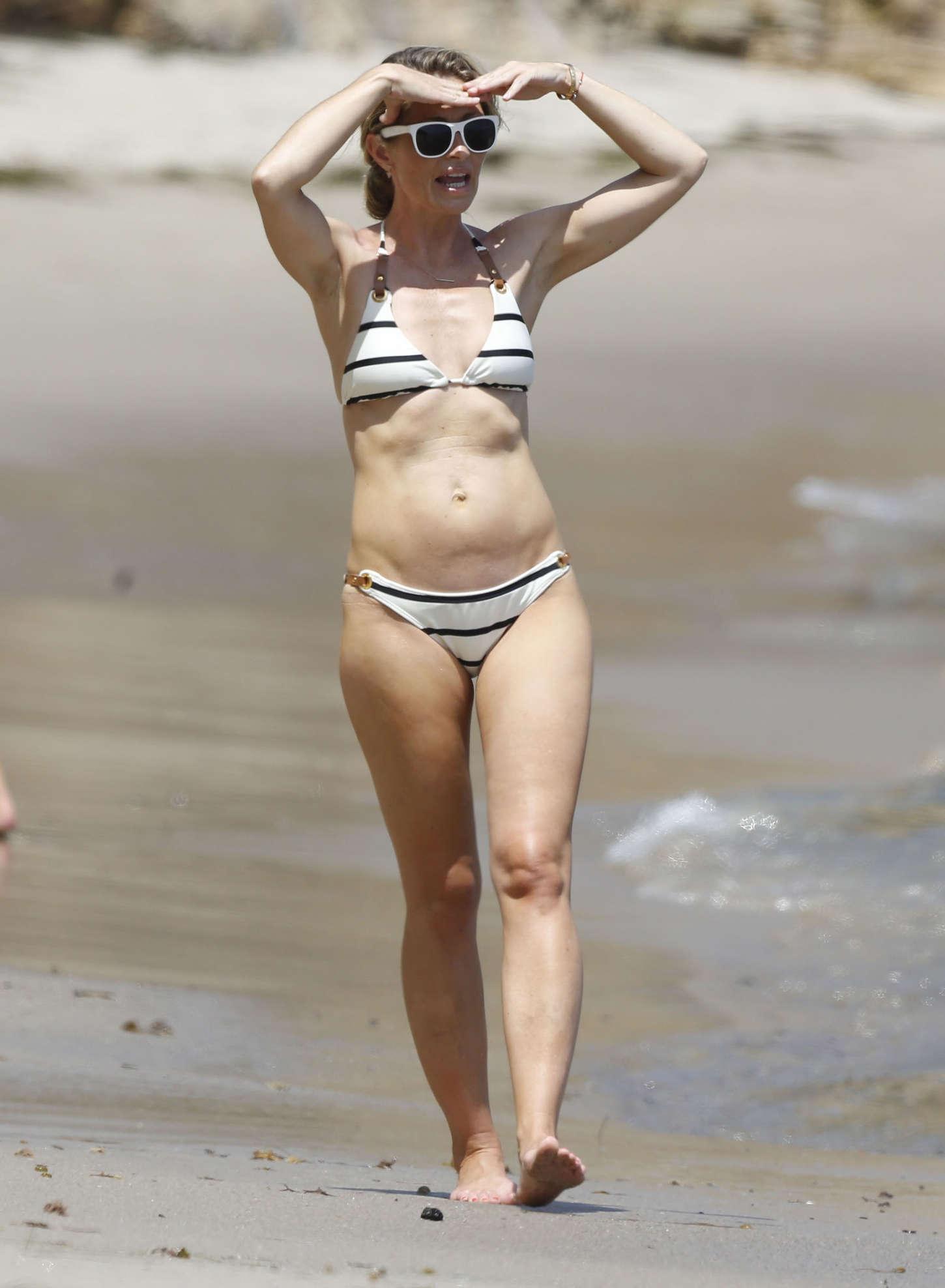 Rebecca Gayheart Bikini Candids in Malibu