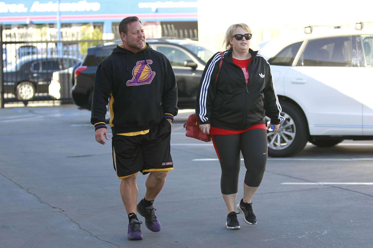 Rebel Wilson Leaving a fitness studio in Los Angeles