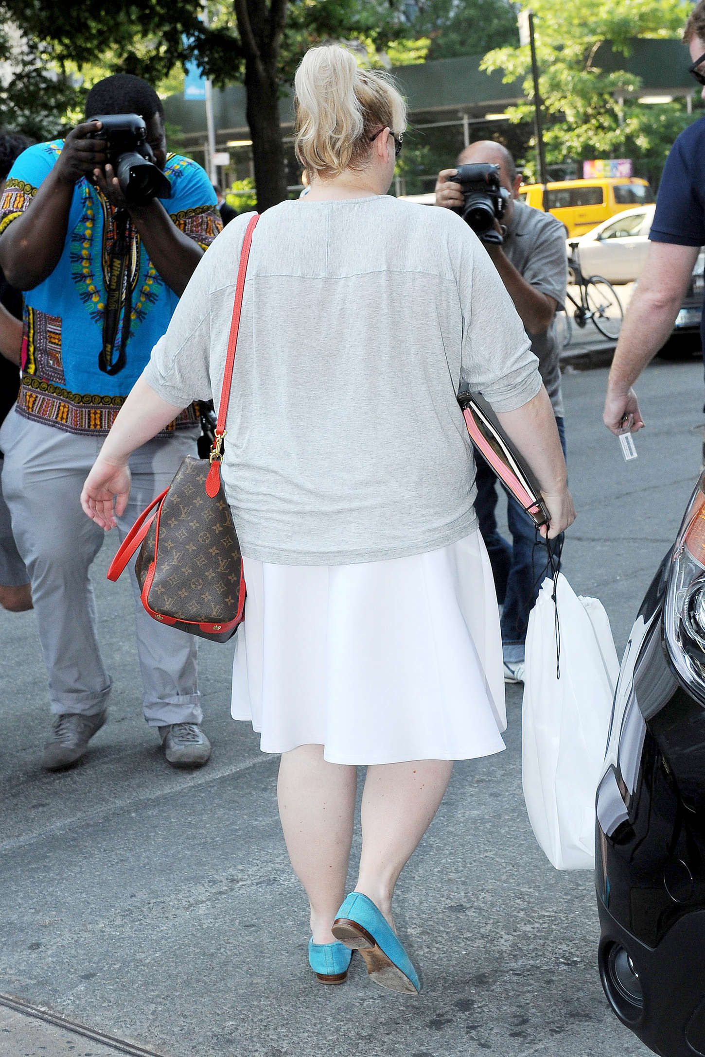 Rebel Wilson Leaving her hotel in New York