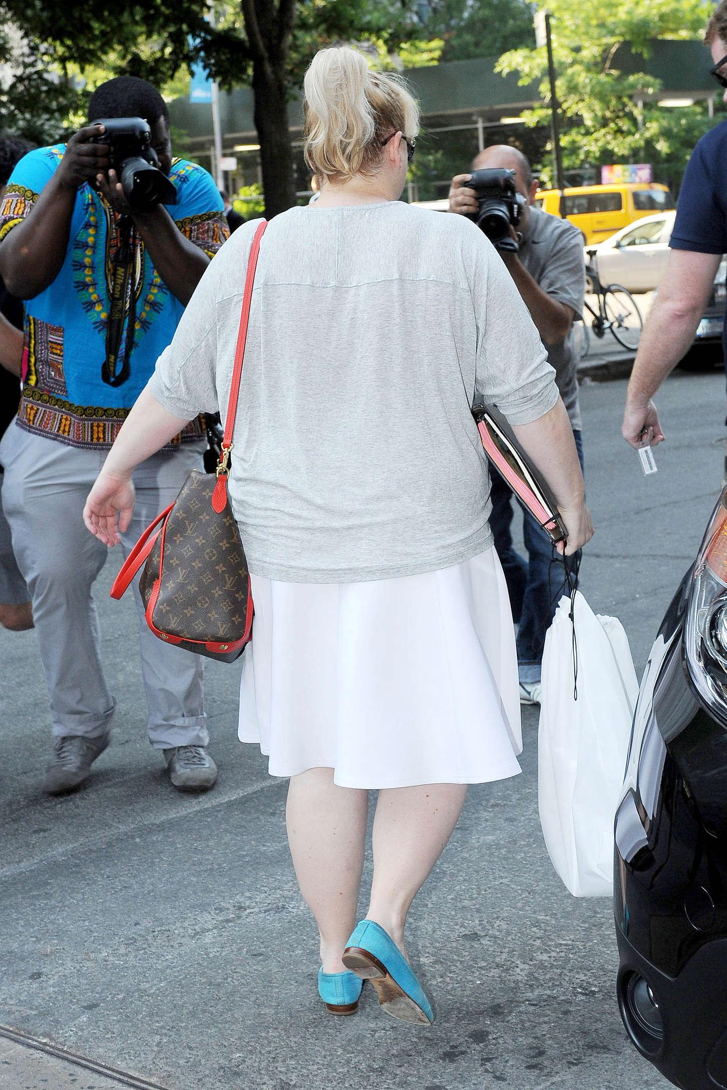 Rebel Wilson Leaving her hotel in New York