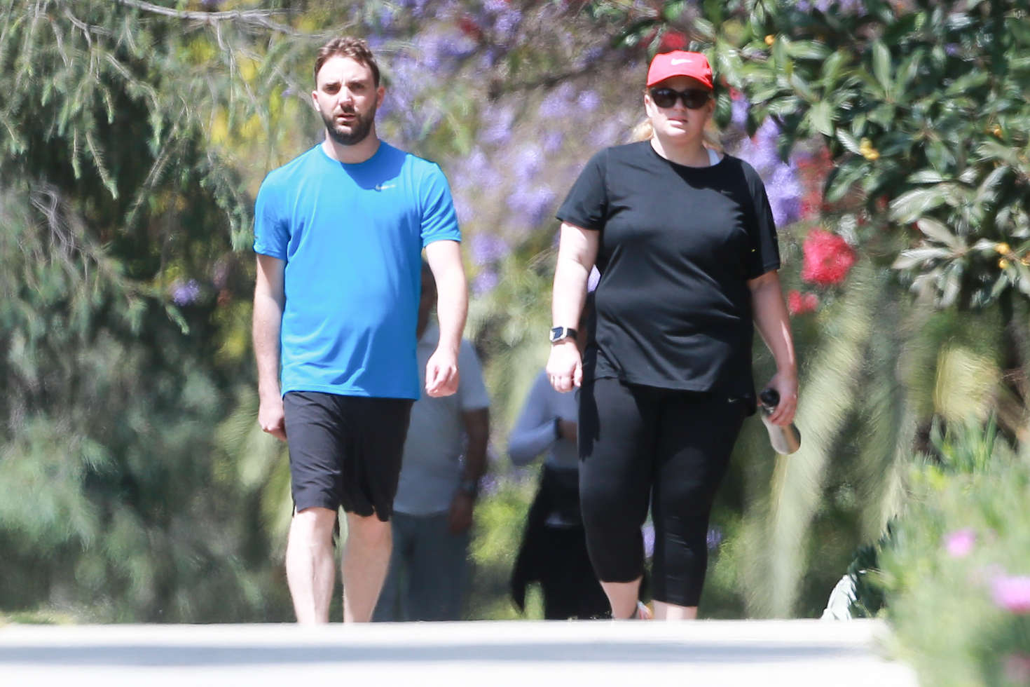 Rebel Wilson on a walk with her friend in Los Feliz