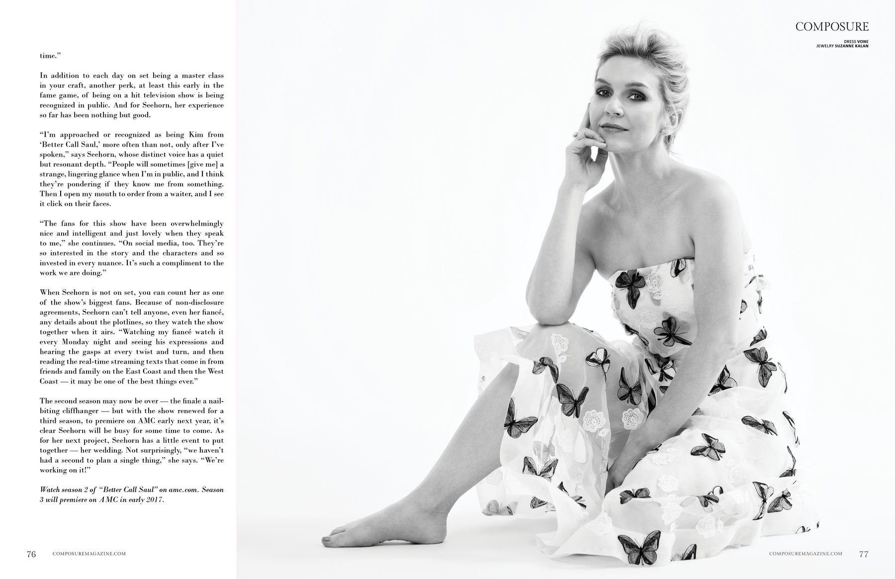 Rhea Seehorn Composure Magazine Anniversary Issue