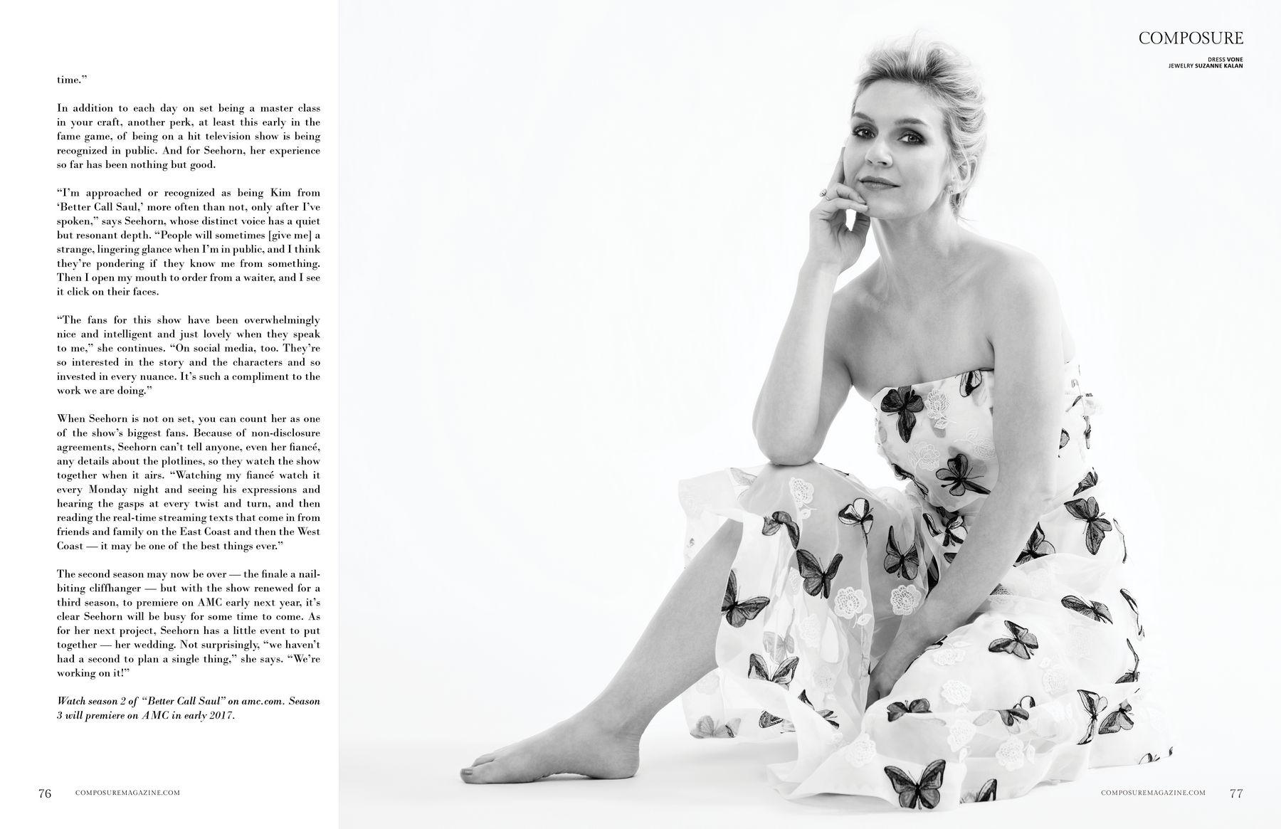 Rhea Seehorn Composure Magazine Anniversary Issue